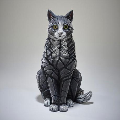 Edge Sculpture Kat Zittend zwart/wit