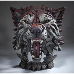 Edge Sculpture Wolf Buste Hout