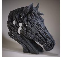 Edge Sculpture Paard Buste Zwart