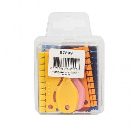 Doosje Kunstof Splitringen 4mm met 120 ringen in 12 kleuren
