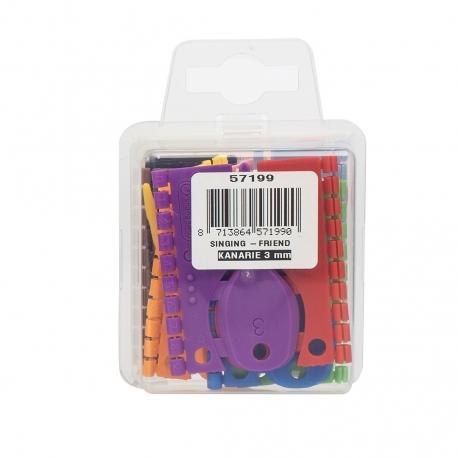 Doosje Kunstof Splitringen 3mm met 120 ringen in 12 kleuren
