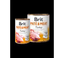 Brit Pate & Meat Kalkoen 400 gr