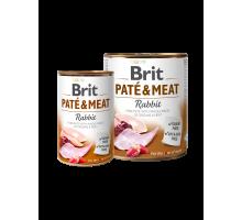 Brit Pate & Meat Konijn 400 gr